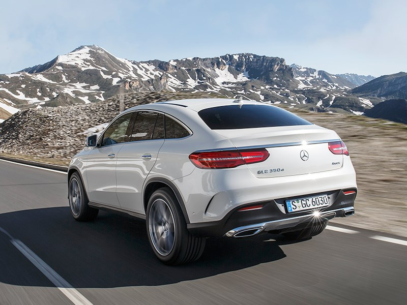 Mercedes-Benz GLE Coupe 2016 вид сзади