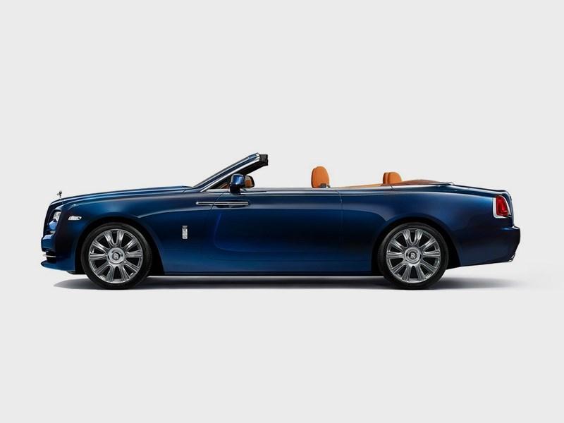 Rolls-Royce Dawn 2017 вид сбоку