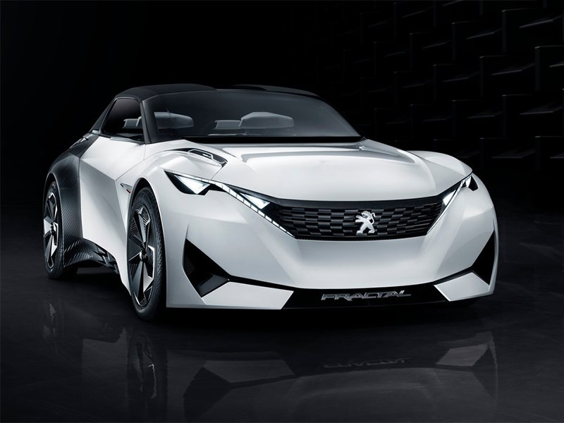 Peugeot Fractal Concept 2015 вид спереди