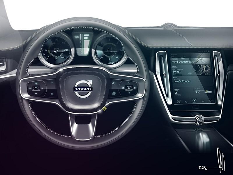Volvo Coupe концепт 2013 интерьер фото 7