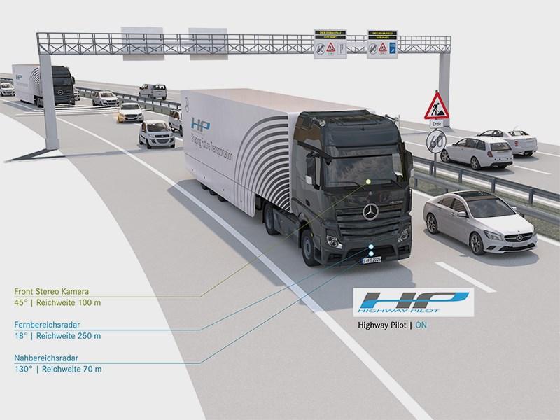 Daimler AG продемонстрировал собственную систему управления для грузовых автомобилей