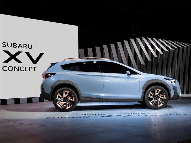 Subaru XV concept 2016 вид сбоку