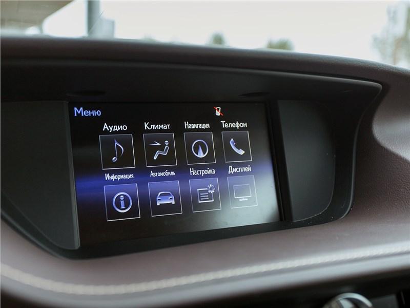 Lexus ES 2016 монитор