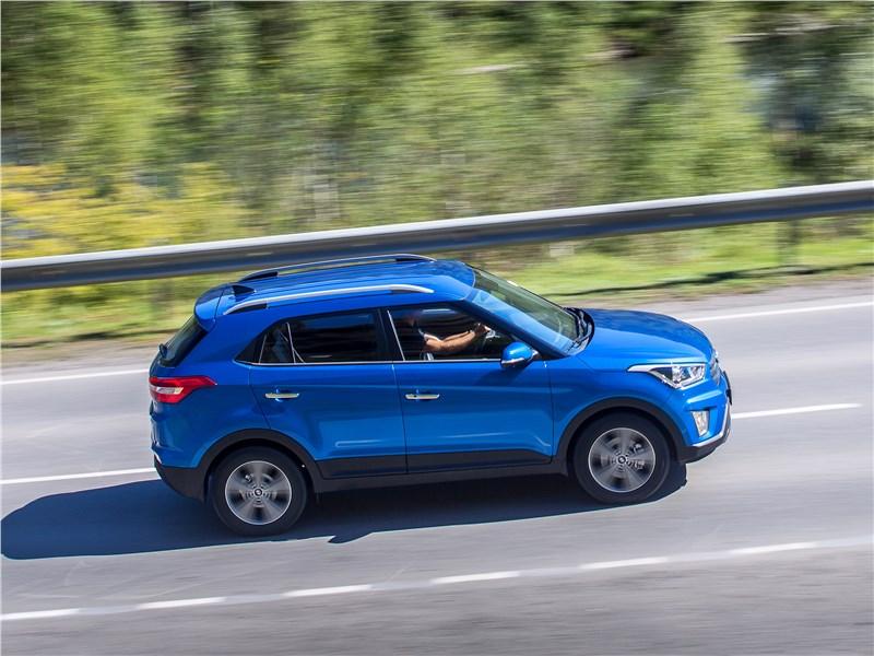 Hyundai Creta 2016 вид сверху