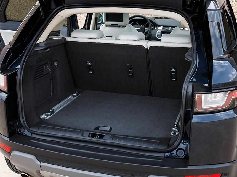 Land Rover Range Rover Evoque 2016 багажное отделение