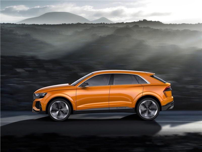 Audi Q8 Sport Concept 2017 вид сбоку
