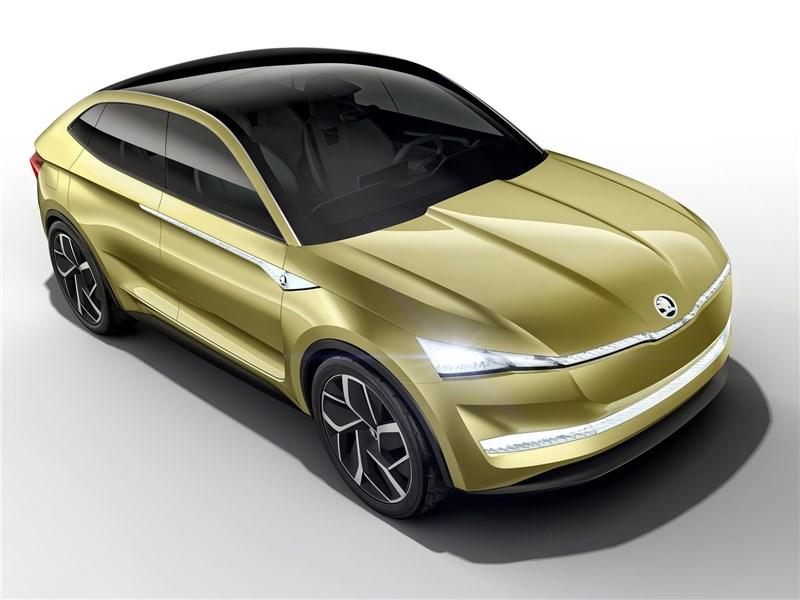 Skoda Vision E Concept 2017 вид спереди