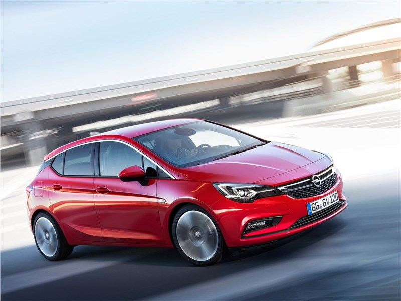 Opel Astra 2016 вид спереди