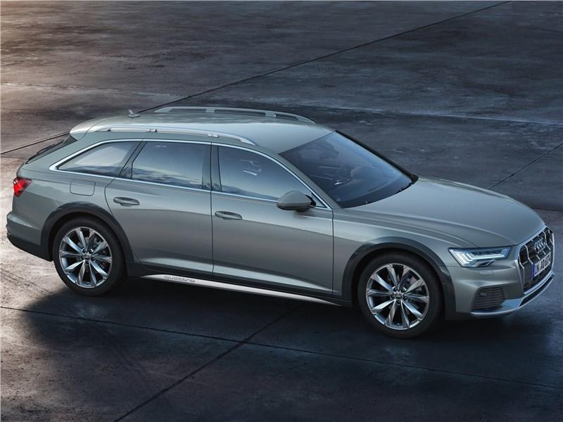 Audi A6 allroad quattro 2020 вид сбоку сверху