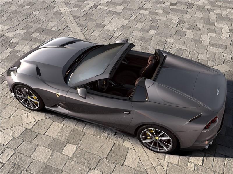 Ferrari 812 GTS 2020 вид сверху