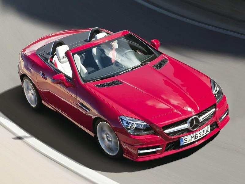 Новый Mercedes-Benz SLK-Class - Крыша темнеет