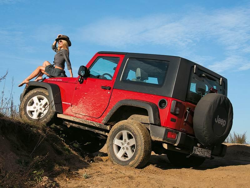 Jeep Wrangler 2007 вид сбоку сзади