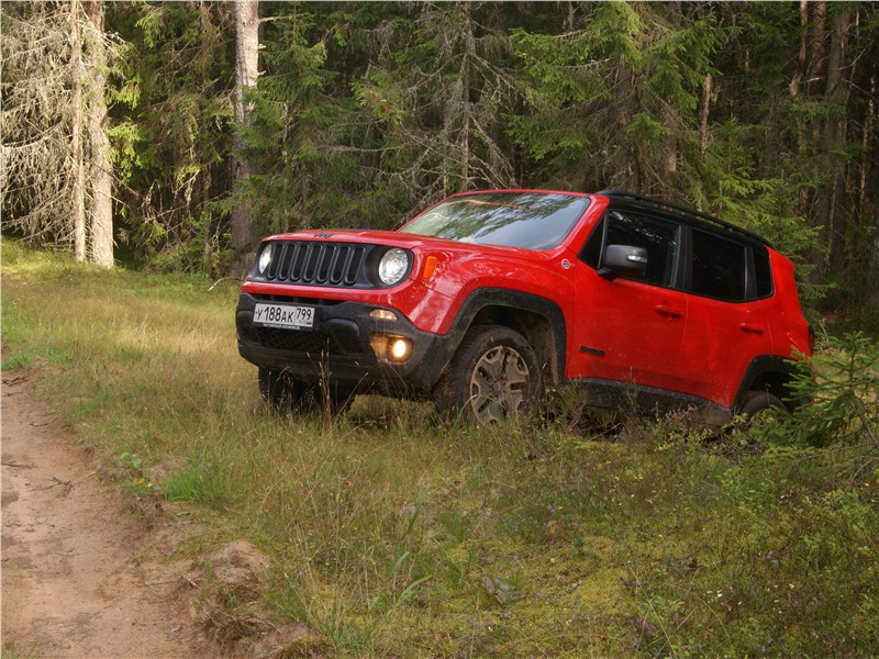 Jeep Renegade 2019 вид сбоку