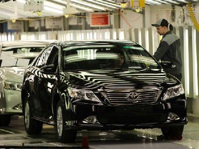 Производство автомобилей Toyota на Петербургском заводе компании выросло на 25%