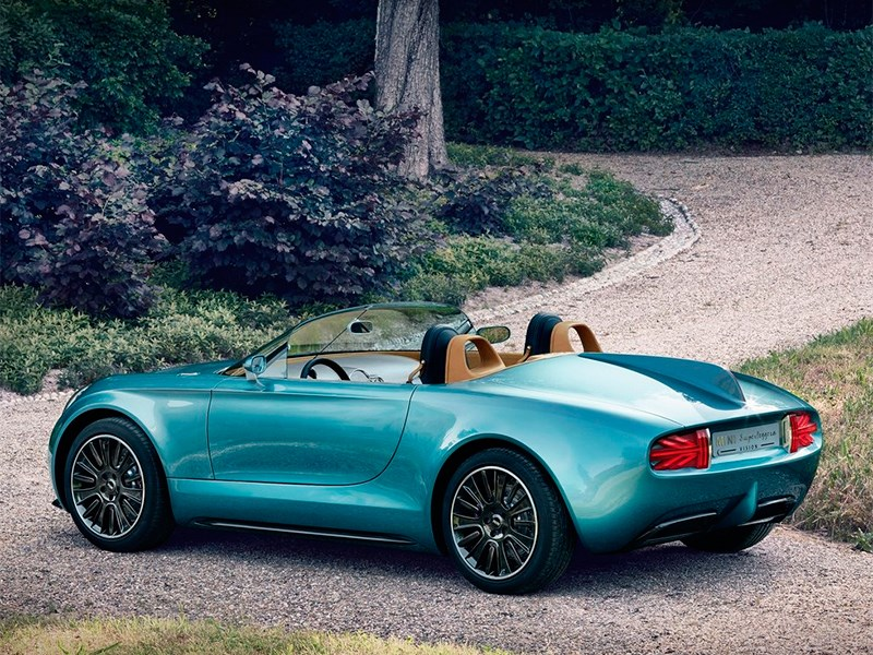MINI Superleggera Vision concept 2014 вид сбоку сзади