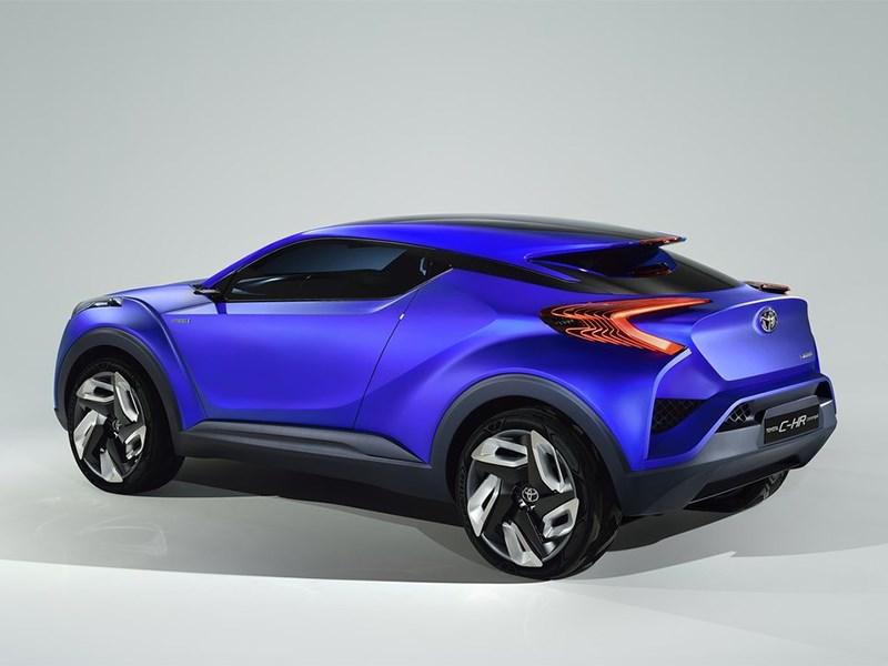 Toyota CH-R concept 2014 вид сзади сбоку