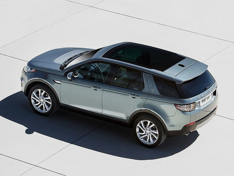 Land Rover Discovery Sport 2015 вид сверху