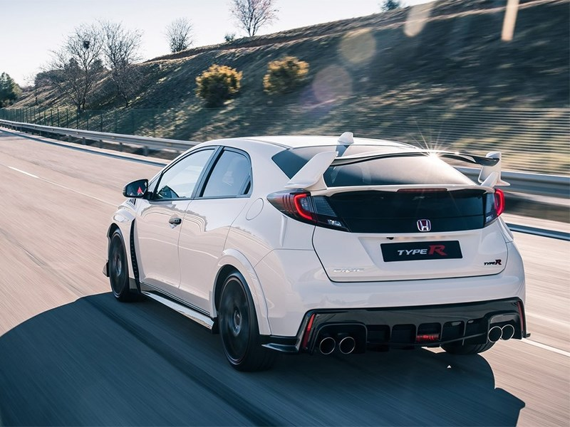 Honda Civic Type R 2015 вид сзади