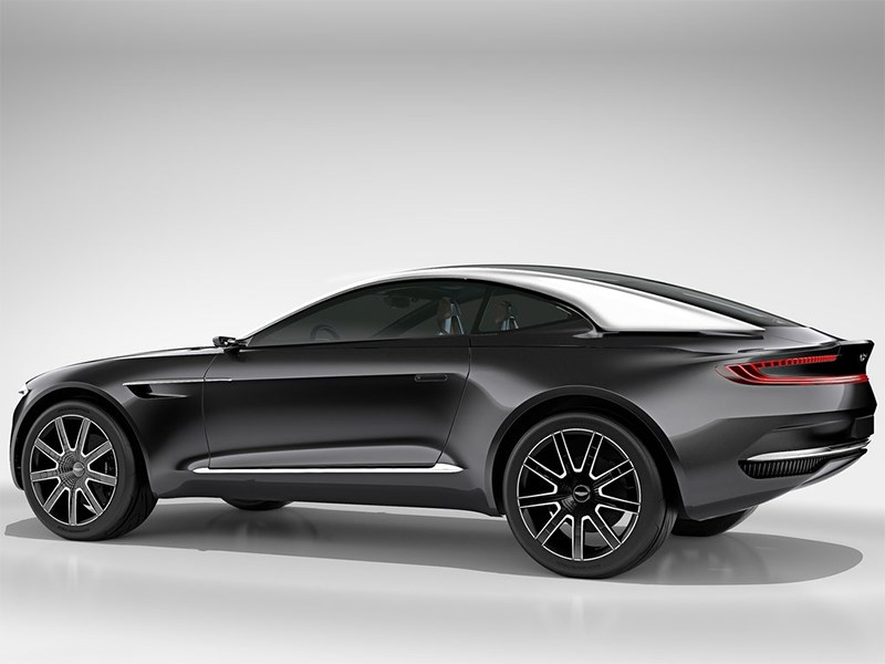 Aston Martin DBX Concept 2015 вид сбоку сзади