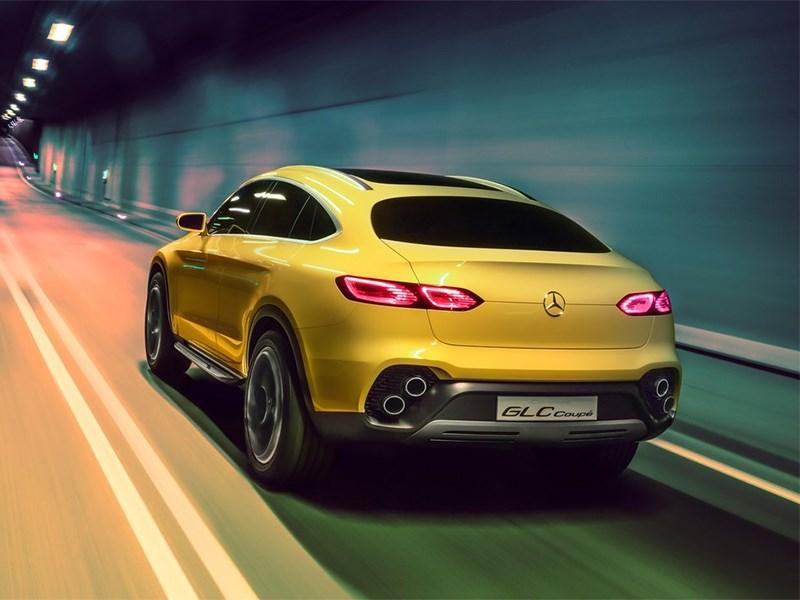 Mercedes-Benz GLC Coupe Concept 2015 вид сзади