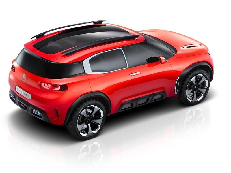 Citroen Aircross Concept 2015 вид сверху сзади