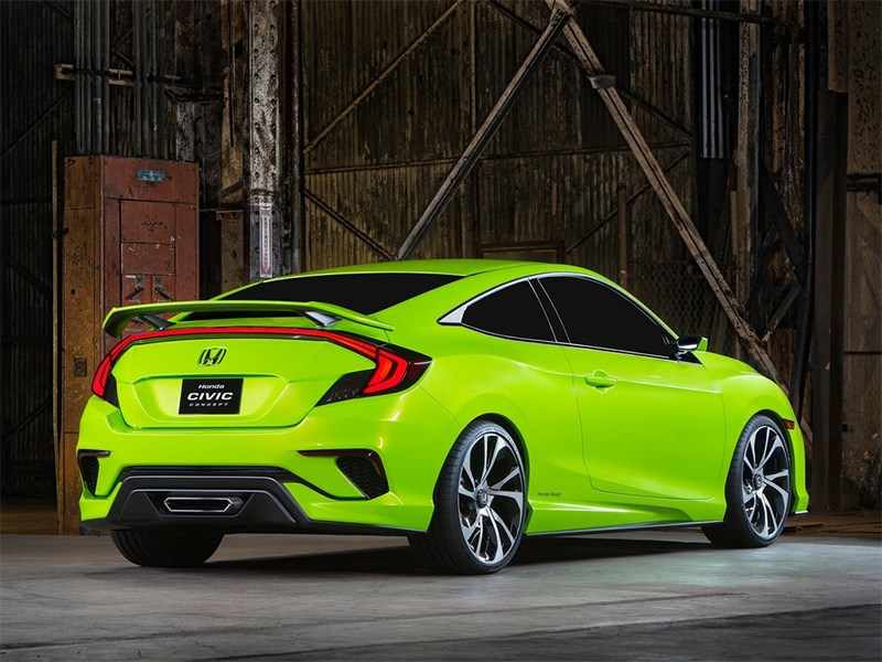 Honda Civic Concept 2015 вид сбоку сзади