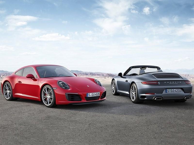 Porsche 911 Carrera 2016 coupe и cabriolet