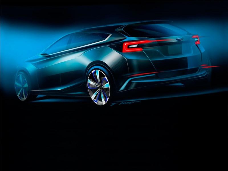Subaru Impreza 5-Door concept 2015 вид сзади эскиз