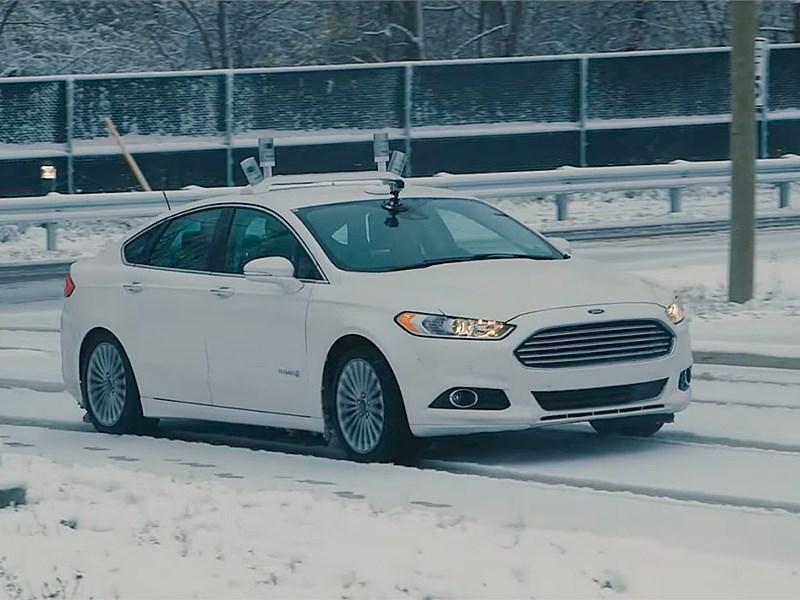 Ford начал тестирование беспилотных автомобилей в условиях снегопада