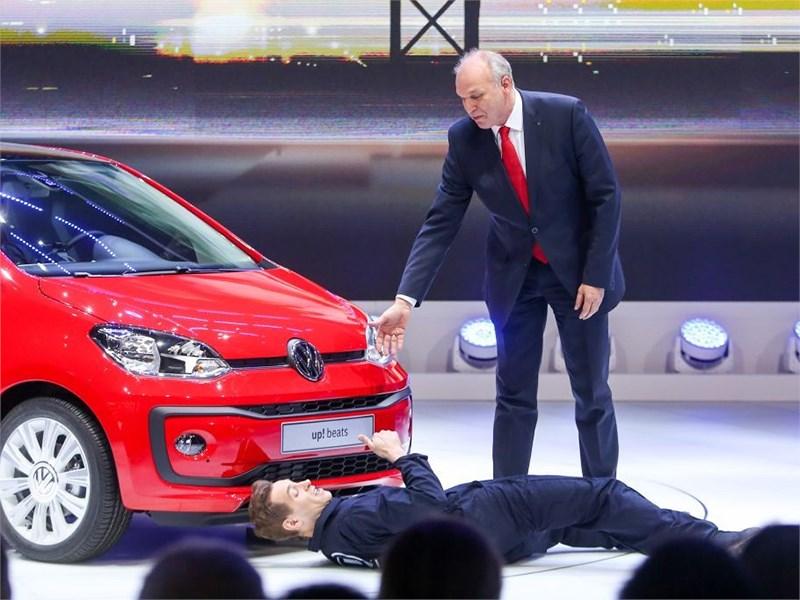 Презентацию Volkswagen Up! в Женеве прервал провокатор