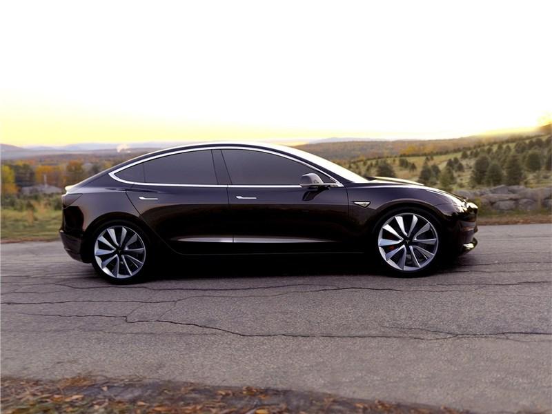 Tesla Model 3 concept 2016 вид сбоку 2