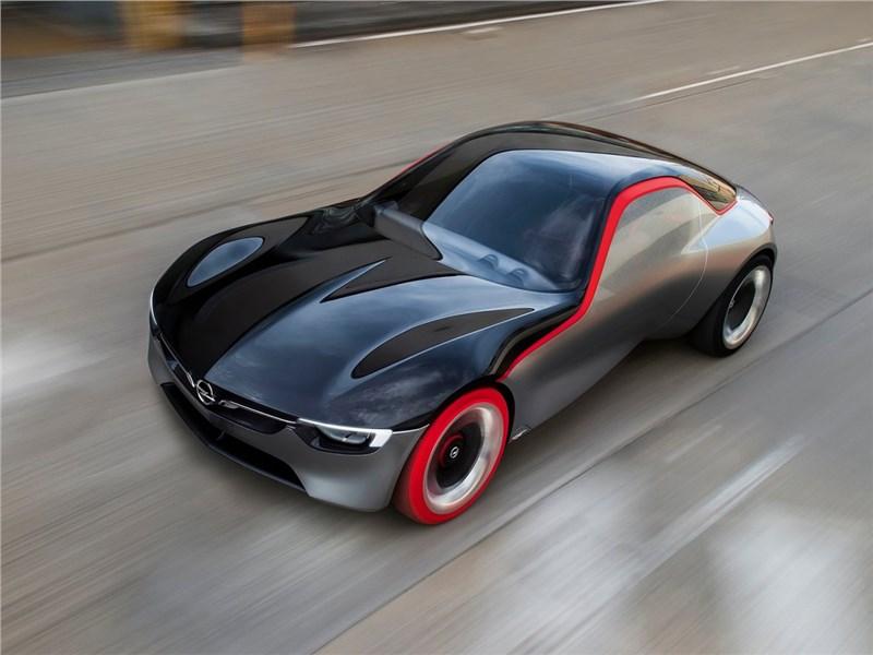 Opel GT concept 2016 вид спереди сверху