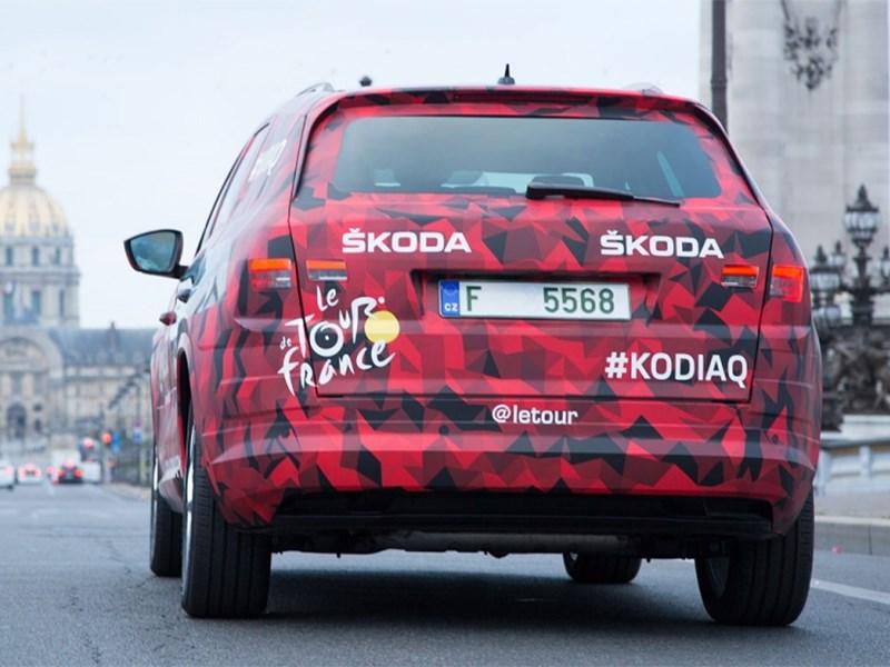 Skoda Kodiaq 2016 вид сзади