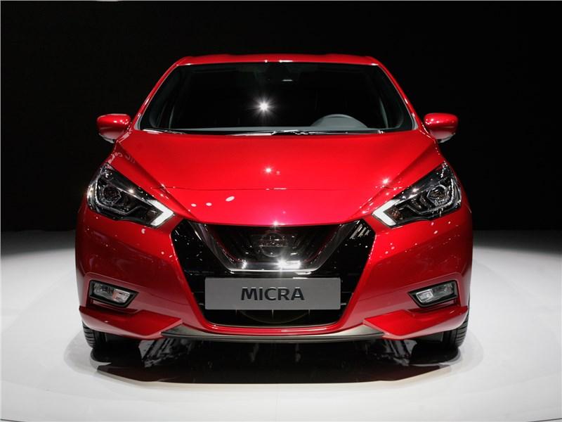 Nissan Micra 2017 вид спереди
