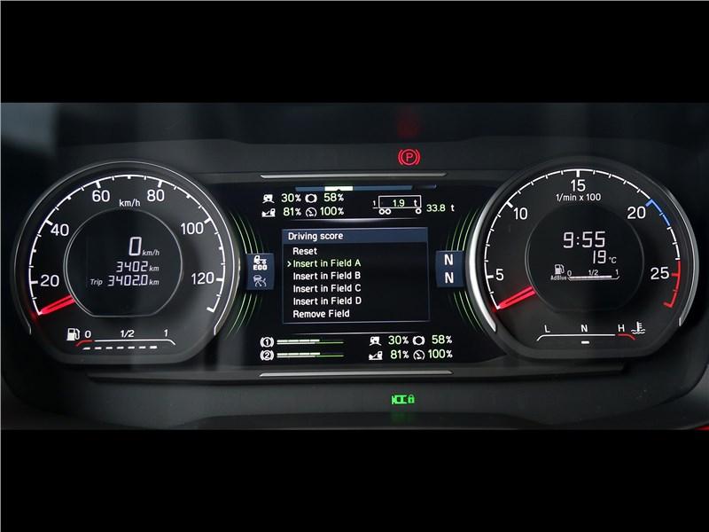 Scania S 2016 приборная панель