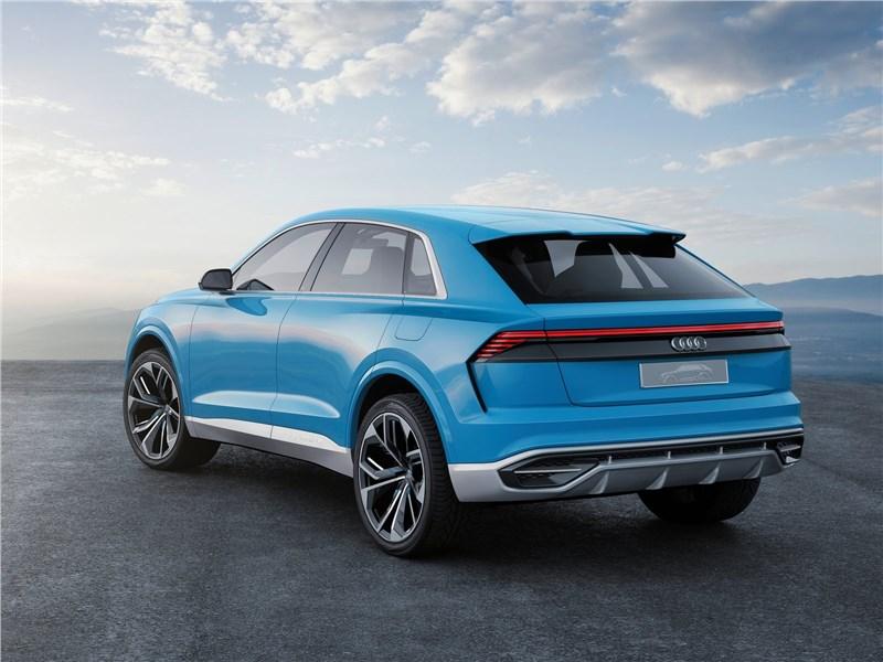 Audi Q8 concept 2017 вид сзади сбоку
