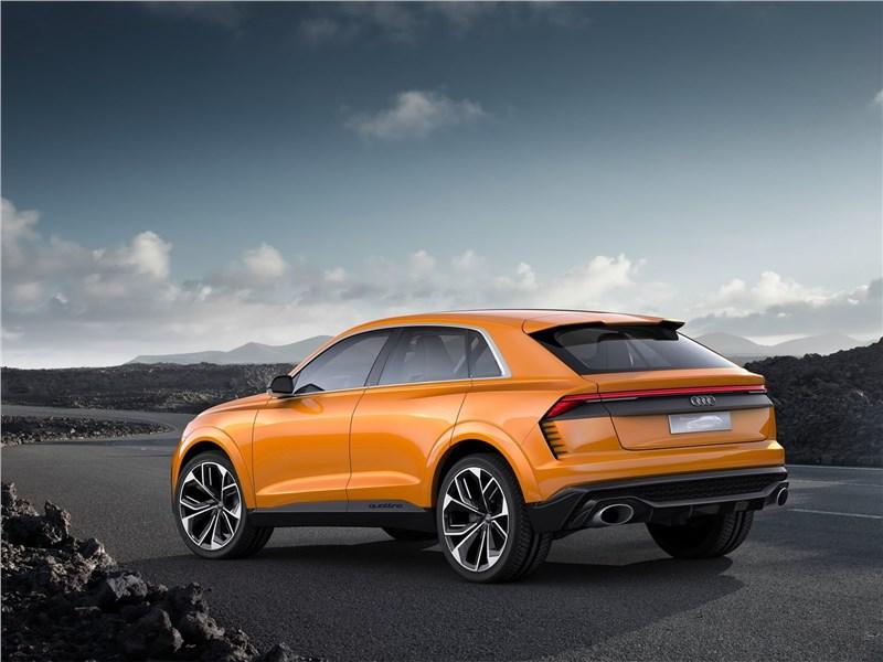 Audi Q8 Sport Concept 2017 вид сбоку сзади