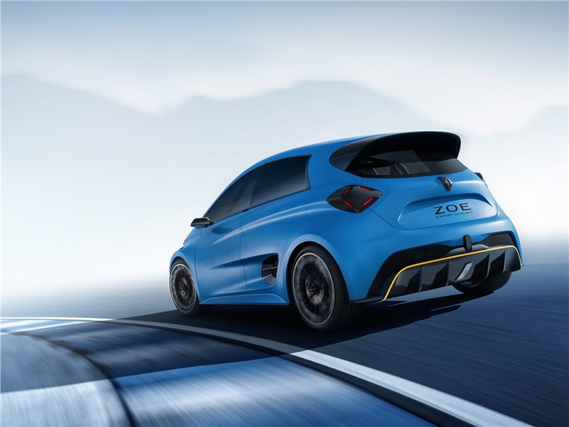 Renault Zoe e-Sport Concept 2017 вид сзади