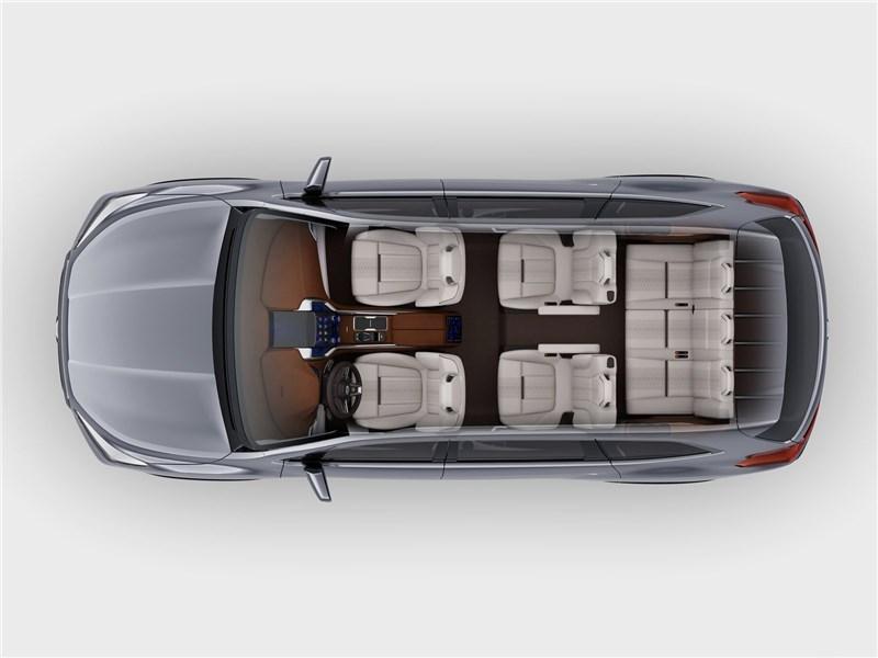 Subaru Ascent SUV Concept 2017 вид сверху