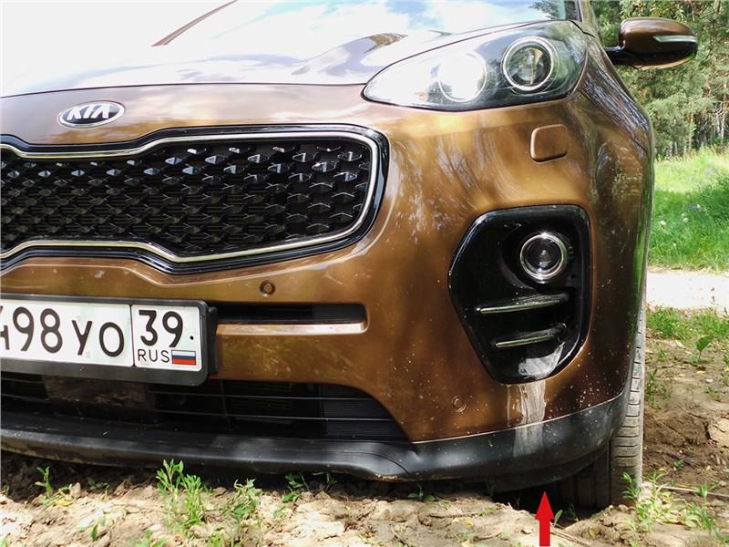 Kia Sportage 2016 на бездорожье