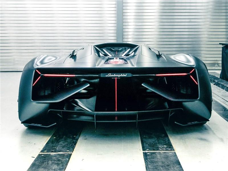 Lamborghini Terzo Millennio Concept 2017 вид сзади