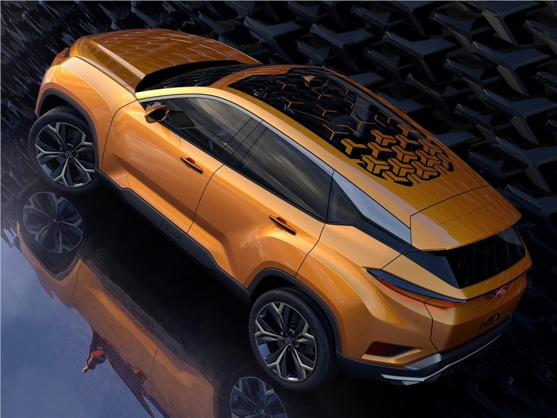 Tata H5X Concept 2018 вид сзади сверху