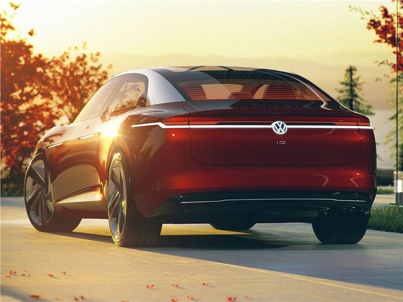 Volkswagen ID Vizzion Concept 2018 вид сзади сбоку