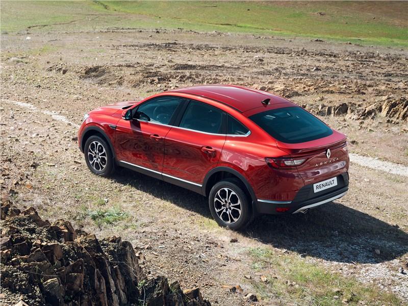 Renault Arkana 2020 вид сверху