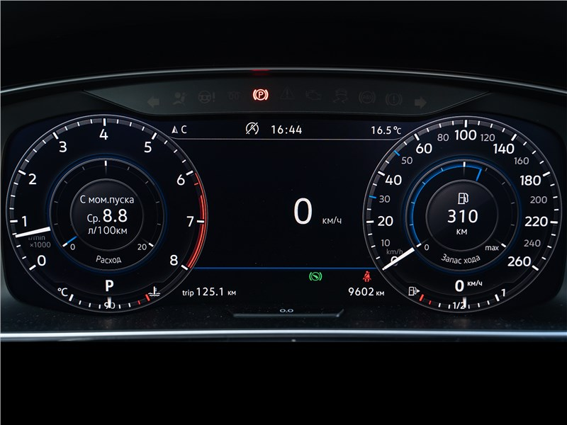 Volkswagen Golf 2017 приборная панель