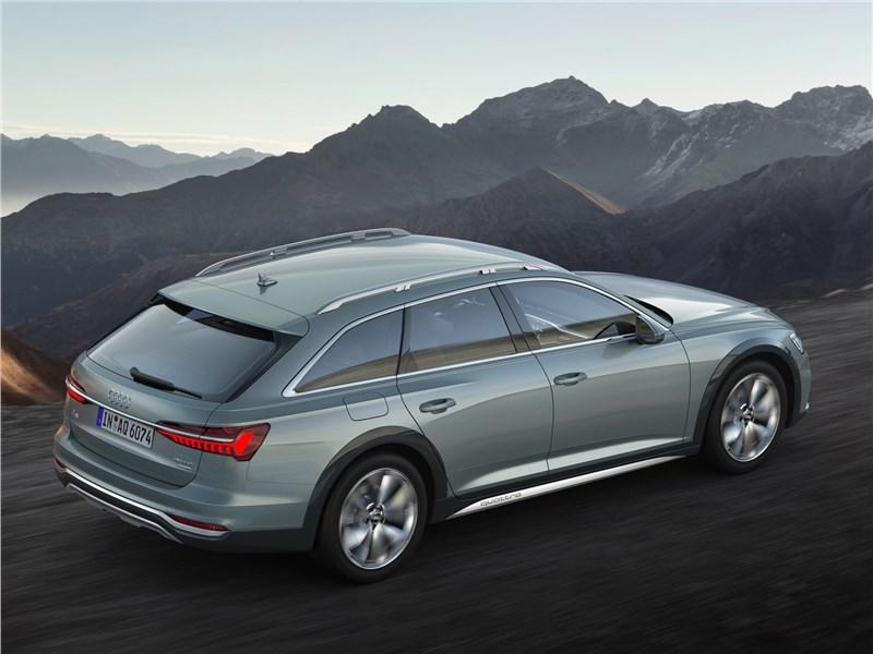 Audi A6 allroad quattro 2020 вид сзади сверху