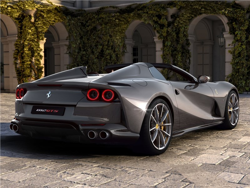 Ferrari 812 GTS 2020 вид сзади