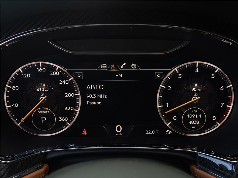 Bentley Continental GT V8 (2020) приборная панель
