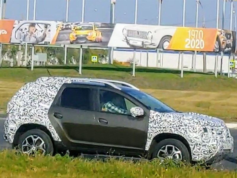 Новый Renault Duster засняли на полигоне в Тольятти