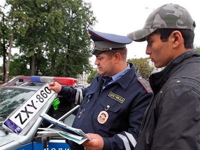 Владельцев машин с иностранными номерами, не имеющих при себе документов, будут штрафовать